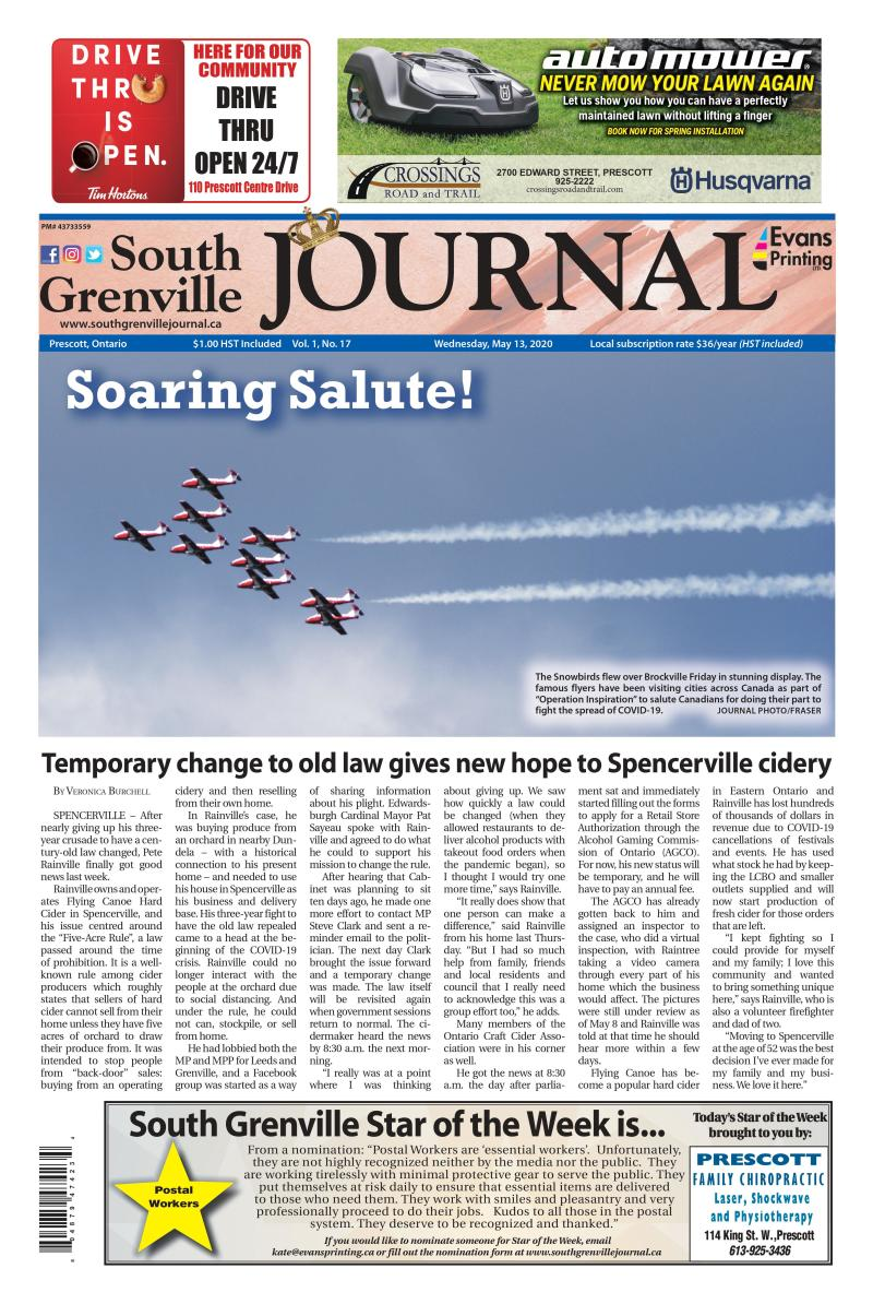 South Grenville Journal May 13, 2020
