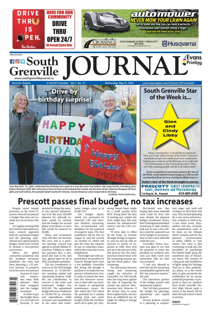 South Grenville Journal May 27, 2020