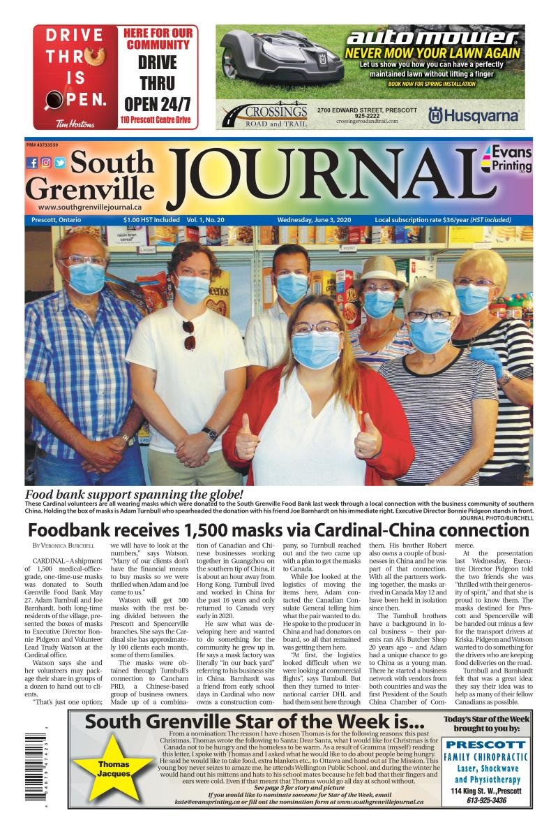 South Grenville Journal June 3, 2020