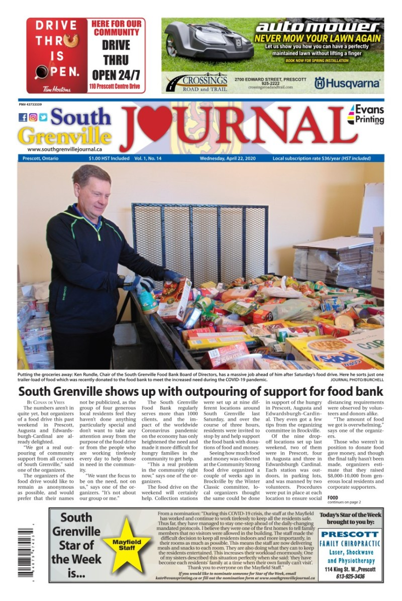 South Grenville Journal April 22, 2020