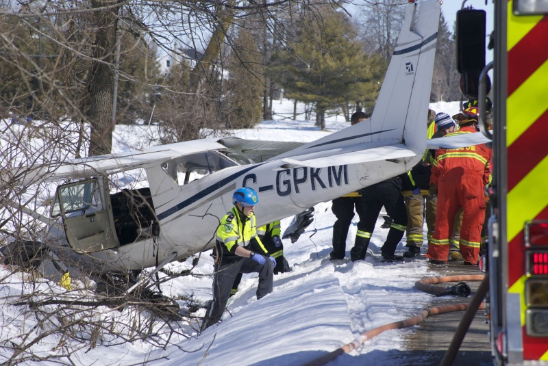 Plane crash on Froom Road