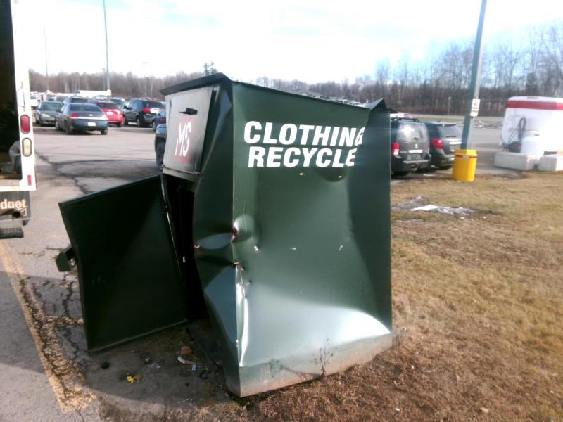 OPP report theft of clothing donation bins