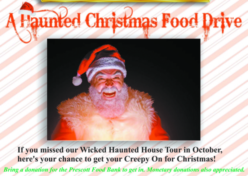 Haunted Christmas scaring up donations to food bank