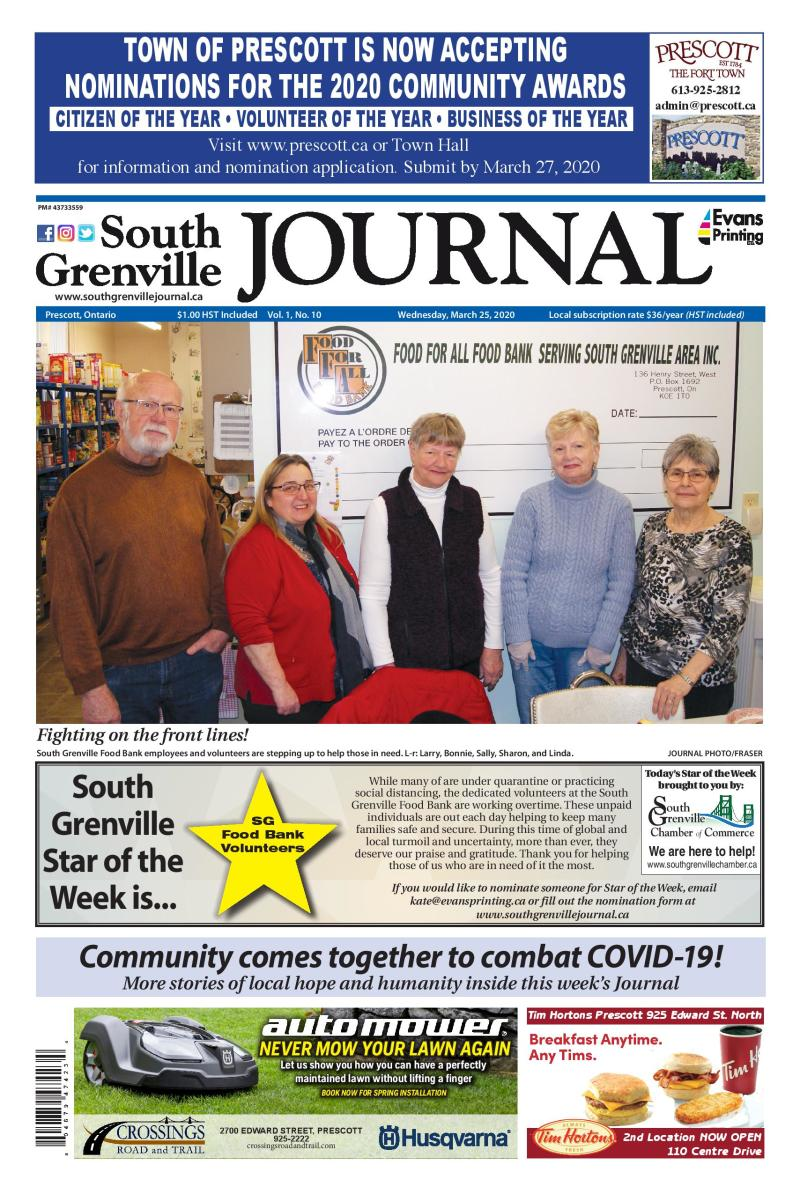 South Grenville Journal March 25, 2020
