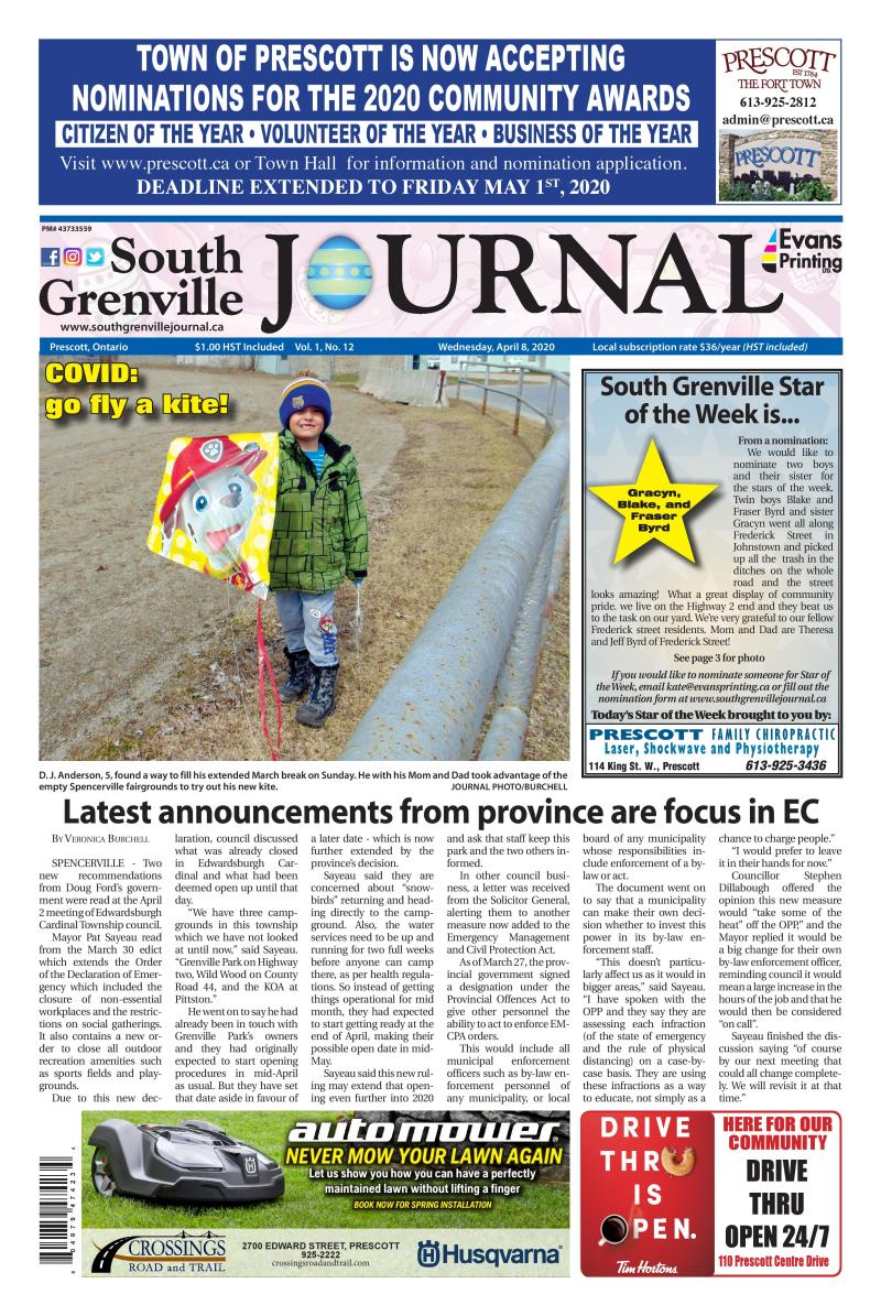 South Grenville Journal April 8, 2020