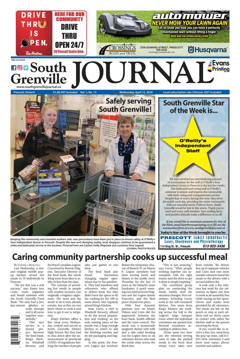 South Grenville Journal April 15, 2020