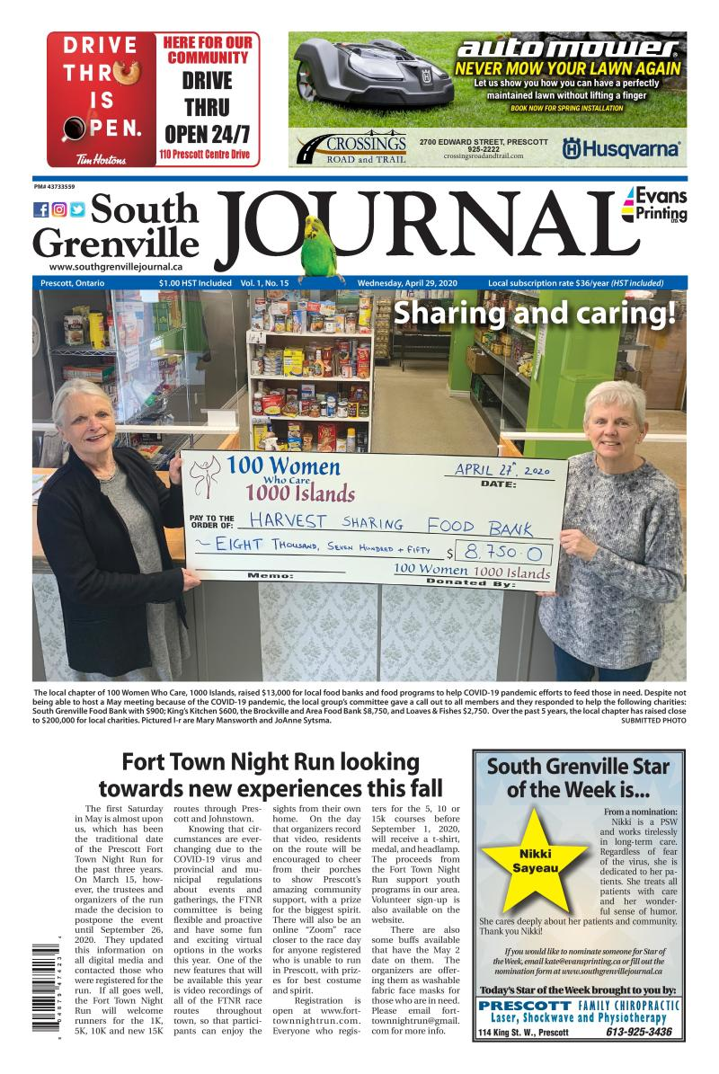 South Grenville Journal April 29, 2020