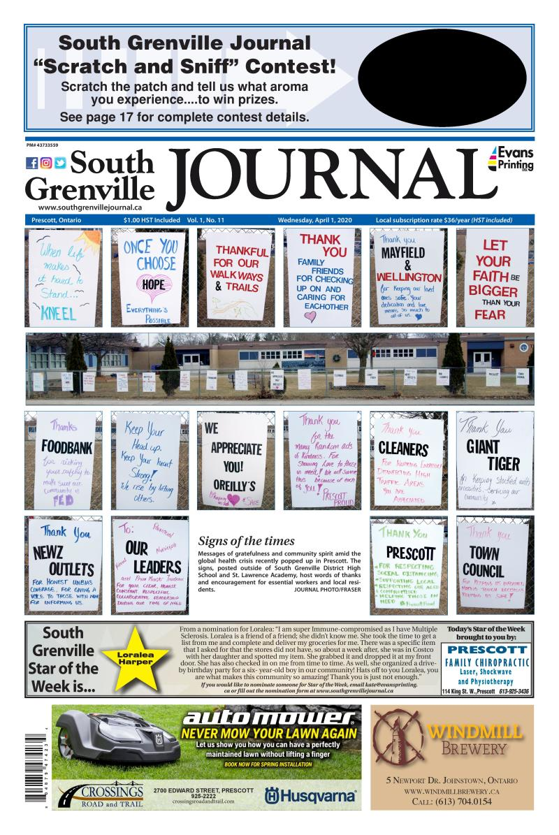 South Grenville Journal April 1, 2020