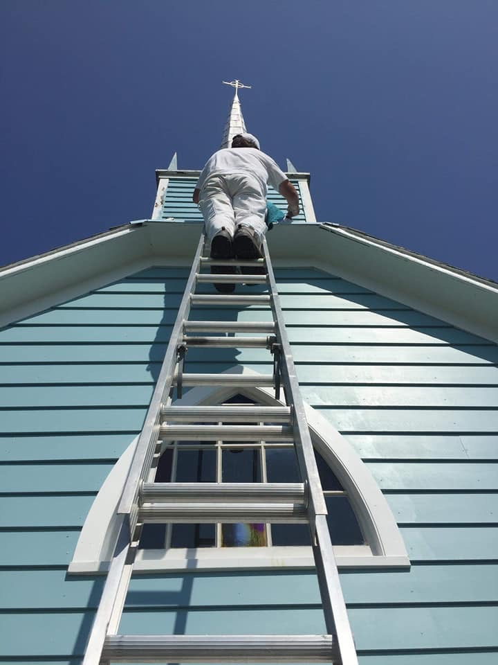 Blue Church gets fresh coat of paint and more