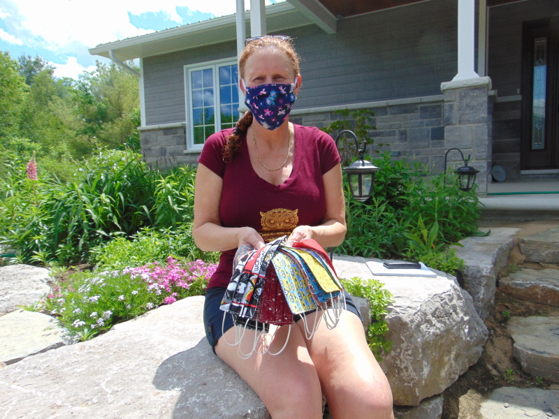 Mask-maker named a Scotiabank Hero for her efforts