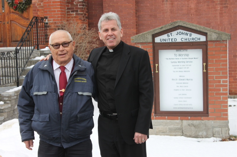 St. John's Church opens doors to Canadian first responders